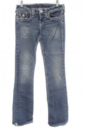 True Religion Straight-Leg Jeans blau Jeans-Optik