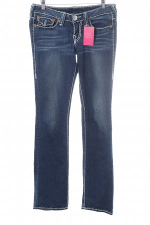 True Religion Straight-Leg Jeans blau Jeans-Optik