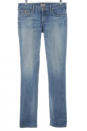 True Religion Straight-Leg Jeans blau Washed-Optik