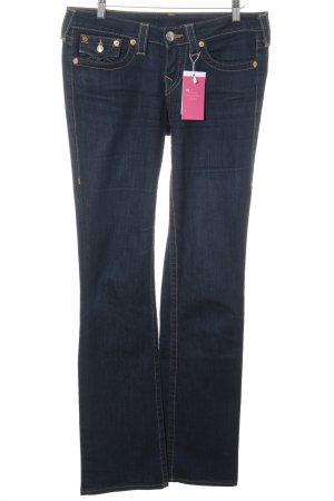 True Religion Straight-Leg Jeans dunkelblau Casual-Look