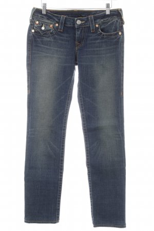 True Religion Straight-Leg Jeans dunkelblau Country-Look