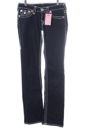 True Religion Straight-Leg Jeans dunkelblau
