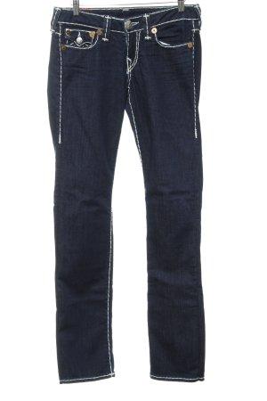 True Religion Jeans coupe-droite bleu foncé style extravagant