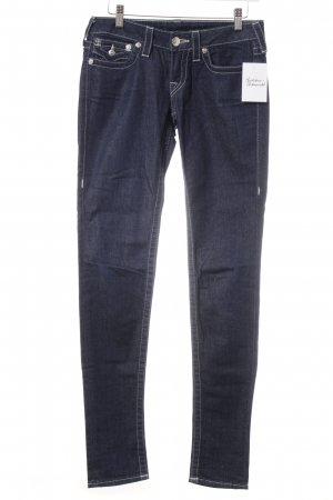 True Religion Straight-Leg Jeans dunkelblau Glitzer-Optik