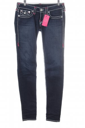 True Religion Straight-Leg Jeans dunkelblau Jeans-Optik
