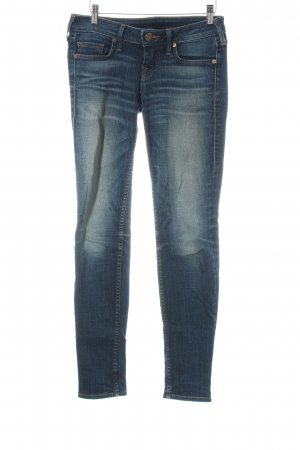 True Religion Straight-Leg Jeans dunkelblau meliert Casual-Look