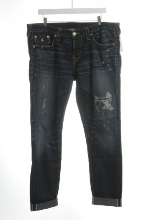 True Religion Straight-Leg Jeans dunkelblau Street-Fashion-Look