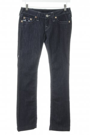 True Religion Straight-Leg Jeans dunkelblau Street-Fashion-Look