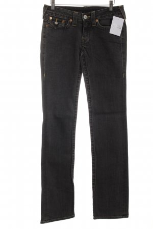 True Religion Straight-Leg Jeans grau Casual-Look