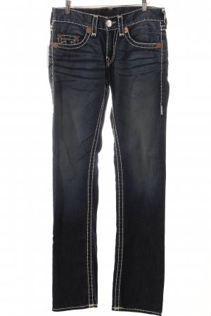 True Religion Straight-Leg Jeans graublau Street-Fashion-Look