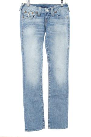 True Religion Straight-Leg Jeans hellblau Casual-Look