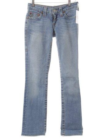 True Religion Straight-Leg Jeans hellblau schlichter Stil