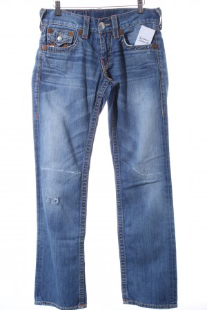 True Religion Straight-Leg Jeans hellblau-wollweiß Casual-Look