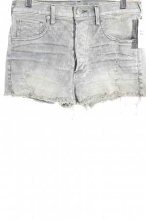 True Religion Straight-Leg Jeans hellgrau-wollweiß Destroy-Optik