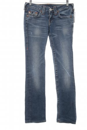 True Religion Straight-Leg Jeans himmelblau Casual-Look