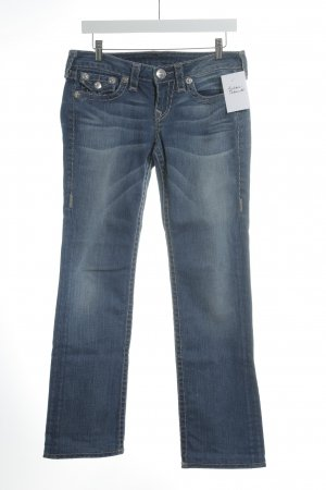 True Religion Straight-Leg Jeans himmelblau-grau Casual-Look