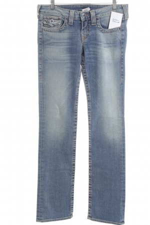 True Religion Straight-Leg Jeans kornblumenblau Jeans-Optik