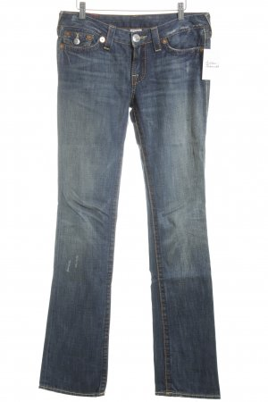 True Religion Straight-Leg Jeans kornblumenblau Used-Optik
