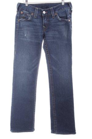 True Religion Straight-Leg Jeans mehrfarbig Used-Optik