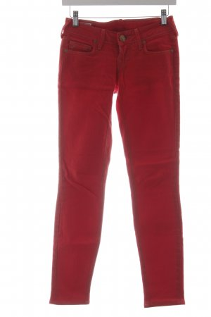 True Religion Straight-Leg Jeans rot sportlicher Stil