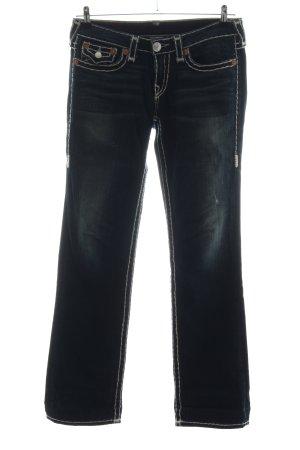 True Religion Straight-Leg Jeans schwarz Casual-Look