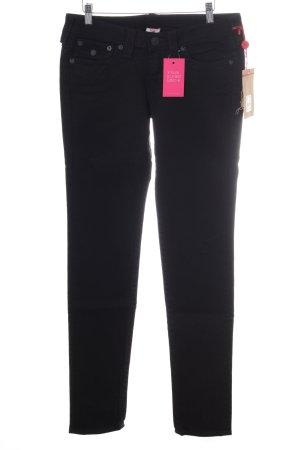 True Religion Straight-Leg Jeans schwarz
