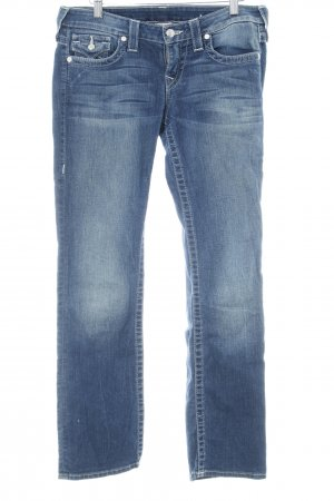 True Religion Straight-Leg Jeans stahlblau Casual-Look