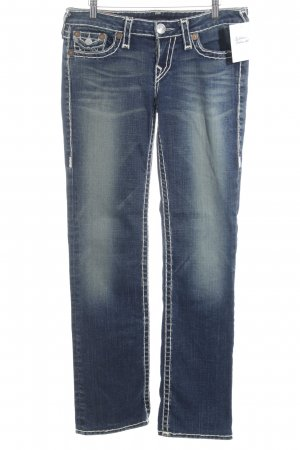 True Religion Straight-Leg Jeans stahlblau Jeans-Optik