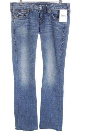 True Religion Straight-Leg Jeans stahlblau-kornblumenblau Jeans-Optik