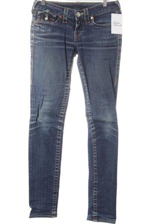 True Religion Straight-Leg Jeans stahlblau schlichter Stil