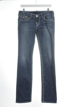 True Religion Straight-Leg Jeans stahlblau Street-Fashion-Look