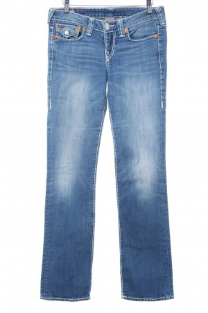 True Religion Straight-Leg Jeans stahlblau-weiß Casual-Look