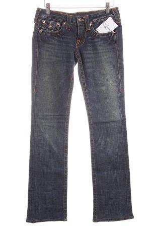 True Religion Straight-Leg Jeans weiß-dunkelblau meliert Casual-Look