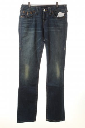 "True Religion Straight-Leg Jeans ""Wendy"" blau"