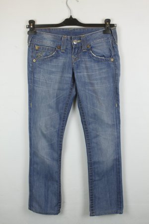 True Religion Straight Leg Low Waist Jeans Gr. 25 blue denim
