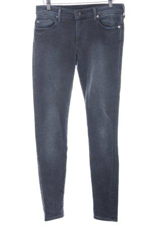 True Religion Stretch Jeans grau Boyfriend-Look