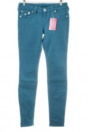 True Religion Jeans elasticizzati blu cadetto stile casual
