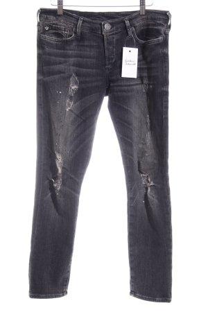 True Religion Stretch Jeans Maltechnik-Muster Casual-Look