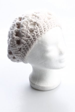 True Religion Chapeau en tricot blanc cassé style classique