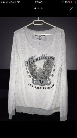 True Religion Sweater grau meliert