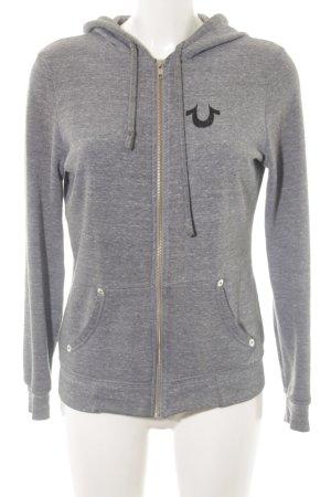 True Religion Sweat Jacket light grey flecked casual look