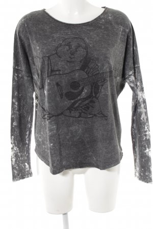 True Religion Sweatshirt grau Motivdruck Destroy-Optik