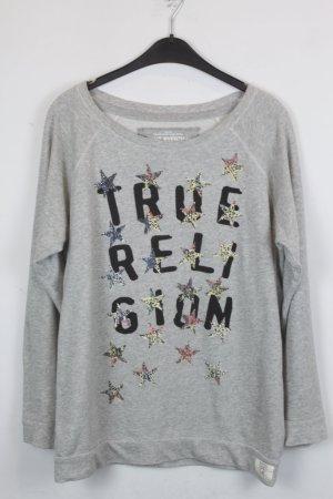 True Religion Sweatshirt Sweater Gr. M grau (18/5/329/E/K)