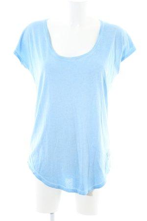 True Religion T-Shirt blau Schriftzug gedruckt Casual-Look