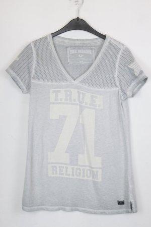True Religion T-shirt Gr. M hellblau mit Print (18/5/137)