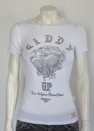 True Religion T-Shirt Gr. S weiss Logo