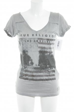 True Religion T-Shirt grau Casual-Look