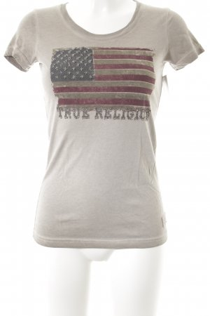 True Religion T-Shirt graubraun Casual-Look