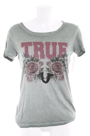 True Religion T-Shirt grün Farbverlauf