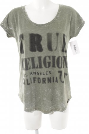 True Religion T-Shirt grüngrau Casual-Look